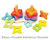 Hape Toys Double Rainbow Stacker