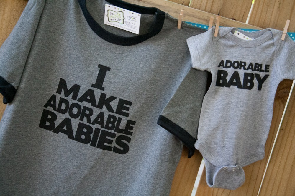 I Make Adorable Babies T-Shirt Set