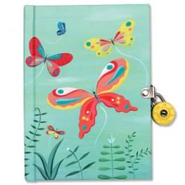 Mudpuppy Locked Journal Butterflies